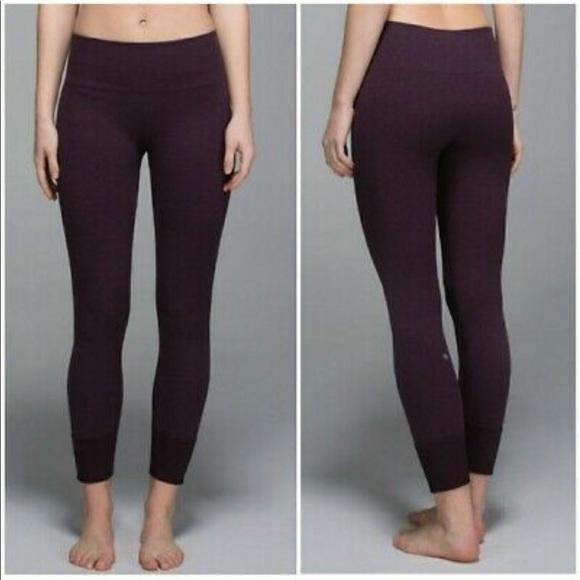 lululemon athletica Pants - Ebb to street pant. Dark purple.